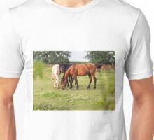Golden hour horses Unisex T-Shirt