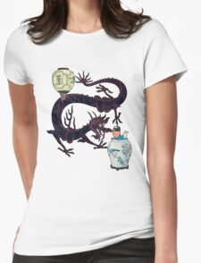 tintin the blue lotus Womens Fitted T-Shirt