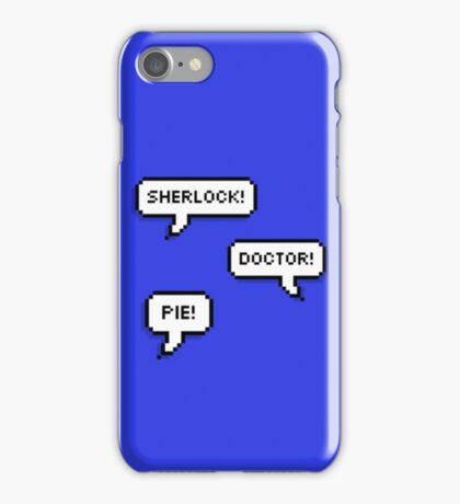 Sherlock Doctor Pie iPhone Case/Skin