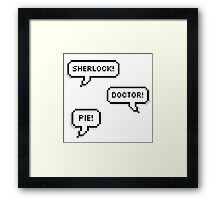 Sherlock Doctor Pie Framed Print