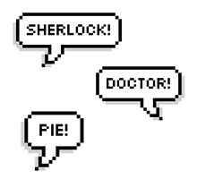 Sherlock Doctor Pie Photographic Print