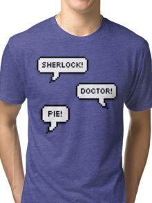 Sherlock Doctor Pie Tri-blend T-Shirt