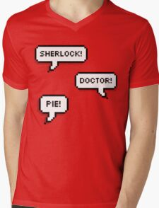 Sherlock Doctor Pie Mens V-Neck T-Shirt