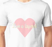 rumbelle love is layered Unisex T-Shirt