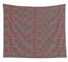 Glass and Sand Red Wall Tapestry