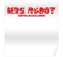 Mrs. Robot Distressed Poster