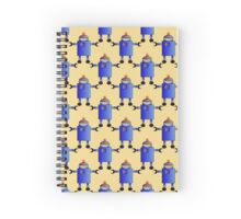 Blue Robot - Anne Winkler Spiral Notebook