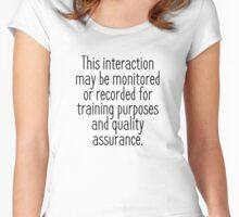 This Interaction May Be Monitored - Light Women's Fitted Scoop T-Shirt