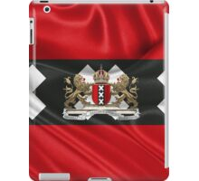Coat of arms of Amsterdam over Flag of Amsterdam iPad Case/Skin