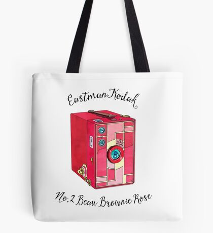Kodak Beau Box Brownie Rose  Tote Bag