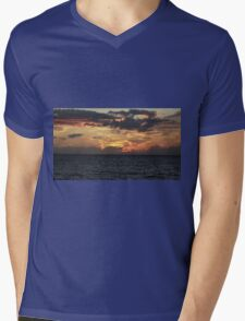 Sunset in Lossiemouth Mens V-Neck T-Shirt