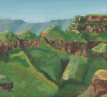 Three Rondavels, Blyde River Canyon South Africa by kvw567paint