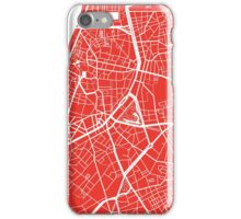 Antwerp Map - Red iPhone Case/Skin