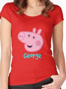 George Pig Women's Fitted Scoop T-Shirt