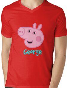 George Pig Mens V-Neck T-Shirt