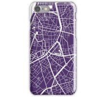 Antwerp Map - Dark Purple iPhone Case/Skin