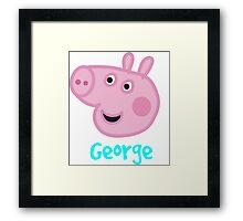 George Pig Framed Print