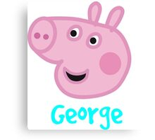 George Pig Canvas Print