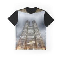 Tokyo Metropolitan Government Building at Night Graphic T-Shirt