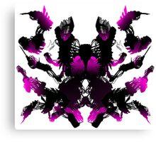 Rorschach Pink Canvas Print