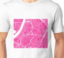 Antwerp Map - Hot Pink Unisex T-Shirt