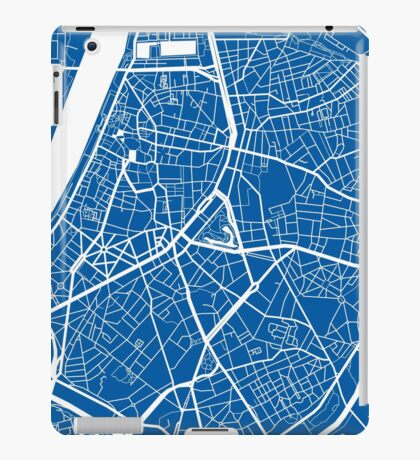 Antwerp Map - Deep Blue iPad Case/Skin