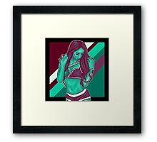 Sasha Banks // Green Purple Framed Print