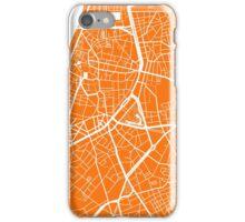 Antwerp Map - Orange iPhone Case/Skin