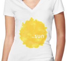 The Sun rca Women's Fitted V-Neck T-Shirt