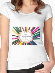 Turn Knowledge Into Action Women's Fitted Scoop T-Shirt