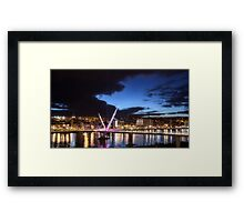 Derry - Peace Bridge Framed Print