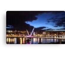 Derry - Peace Bridge Canvas Print