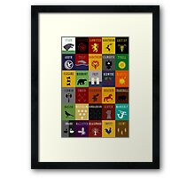 Game of Thrones House Sigils Framed Print
