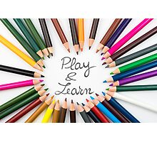Play and Learn Photographic Print