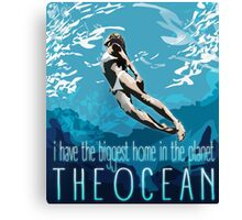 I Have The Biggest Home, The Ocean Canvas Print
