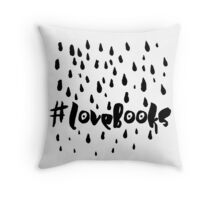 love books (Black) Throw Pillow