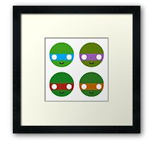 TMNT - Circley! Framed Print
