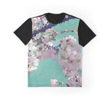 Meshed Up Japanese Sakura Blossoms Graphic T-Shirt