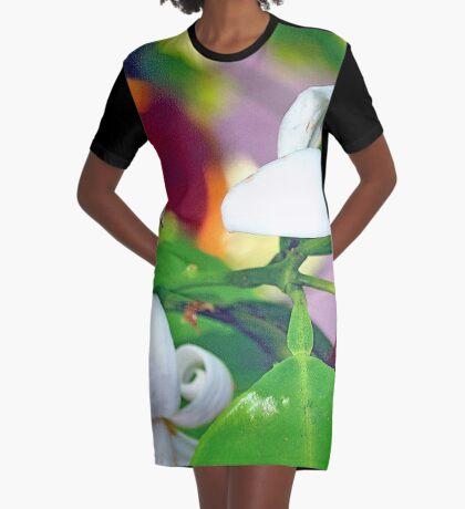 Grace of the orange blossom Graphic T-Shirt Dress