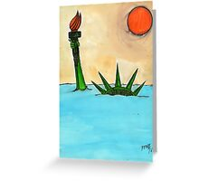 Liberty Submerged Greeting Card