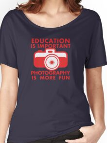 EDUCATION IS IMPORTANT Women's Relaxed Fit T-Shirt