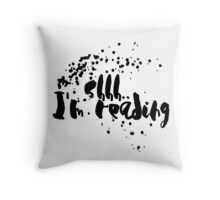 Shh Reading (Black) Throw Pillow