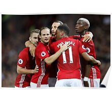 ibrahimovic and paul pogba goal celebration Poster