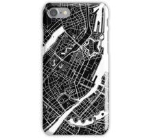Copenhagen Map - Black iPhone Case/Skin
