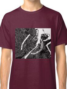 Copenhagen Map - Black Classic T-Shirt