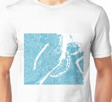 Copenhagen Map - Baby Blue Unisex T-Shirt