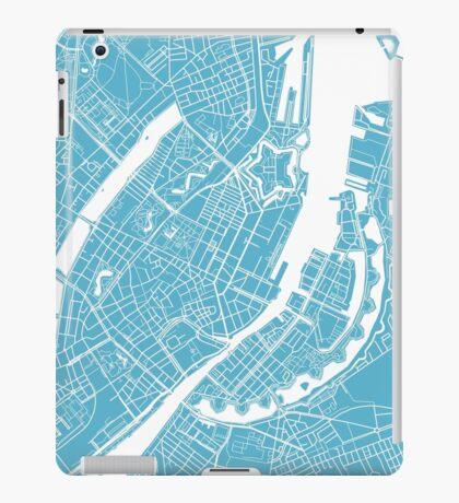Copenhagen Map - Baby Blue iPad Case/Skin
