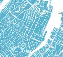 Copenhagen Map - Baby Blue Sticker