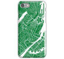 Copenhagen Map - Green iPhone Case/Skin
