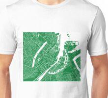 Copenhagen Map - Green Unisex T-Shirt